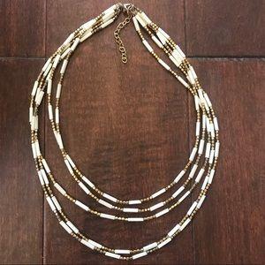 Cream Gold Necklace